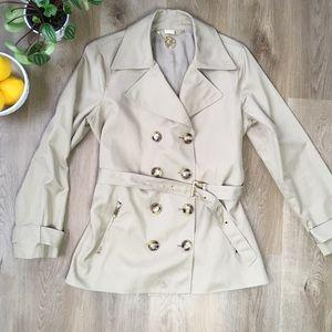 Michael Kors Tan Trench Coat sz L